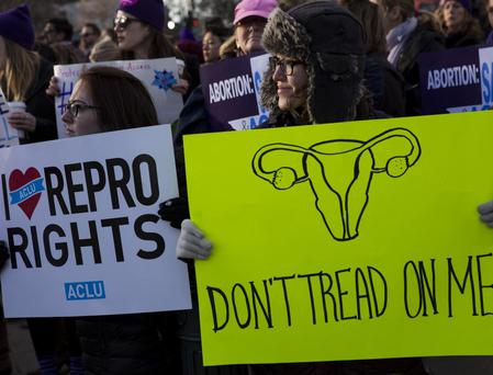 Pro-choice campaigners rally in defence of abortion rights Photo: Getty Images