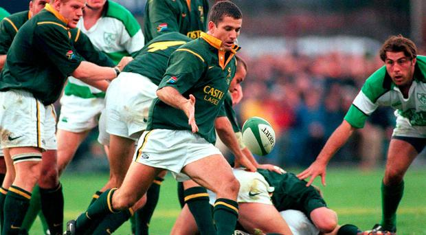 Joost Van Der Westhuizen in action against Ireland in 2000