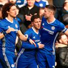 Chelsea's Eden Hazard celebrates scoring their second goal