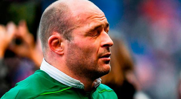 Ireland captain Rory Best following his side's defeat in the RBS Six Nations Rugby Championship match between Scotland and Ireland at BT Murrayfield Stadium in Edinburgh, Scotland. Photo by Ramsey Cardy/Sportsfile