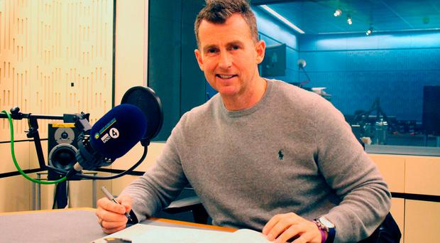 Nigel Owens said the intense pressure of refereeing the 2015 Rugby World Cup final was nothing compared to the struggle to accept that he was gay. BBC/PA Wire