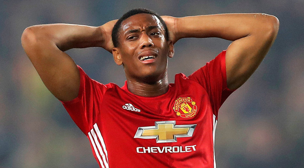 "Those close to the Manchester United hierarchy say Jose Mourinho is starting to doubt whether he can quite ""get into Anthony Martial's head"" in the same way he did with Henrikh Mkhitaryan. Photo: Chris McGrath/Getty Images"