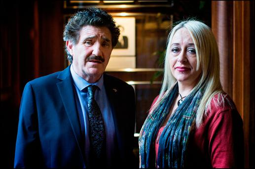 Support: Gail O'Rorke with junior minister John Halligan, who introduced a Right to Die bill in the last Dail. Photo: David Conachy