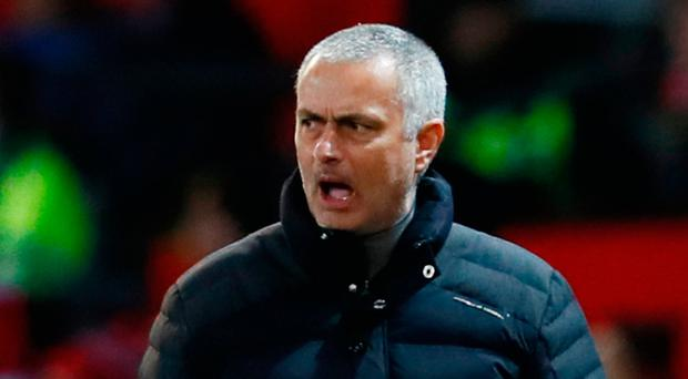 Jose Mourinho accepts that Manchester United cannot win the league, but points out that they are still in three cup competitions. Photo: Jason Cairnduff/Reuters