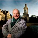 Words: Brendan Kennelly pictured at Trinity College in 2012. Photo: David Conachy