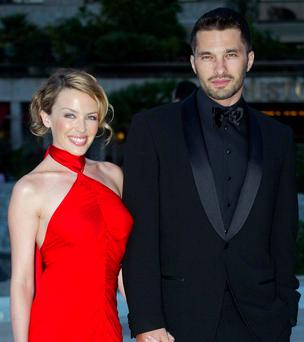 Kylie Minogue and Olivier Martinez. Photo: Pascal Deschamps/Reuters