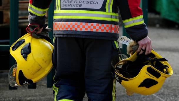 Two people were rescued from the blaze