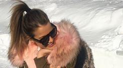 Images of Vogue pictured wearing the Popski London rabbit fur-lined parka have caused outrage.