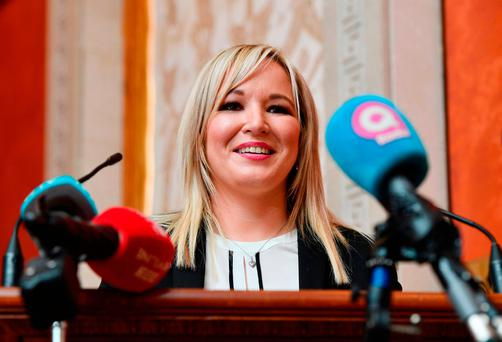 Sinn Féin's new northern leader Michelle O'Neill said she would not issue an invitation to Mr Trump. Photo: Charles McQuillan/Getty Images