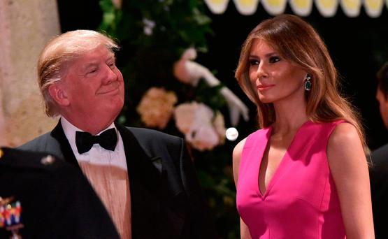President Donald Trump and First Lady Melania at the 60th annual Red Cross Gala at Mar-a-Lago club in Palm Beach, Florida. Photo: AFP/Getty Images
