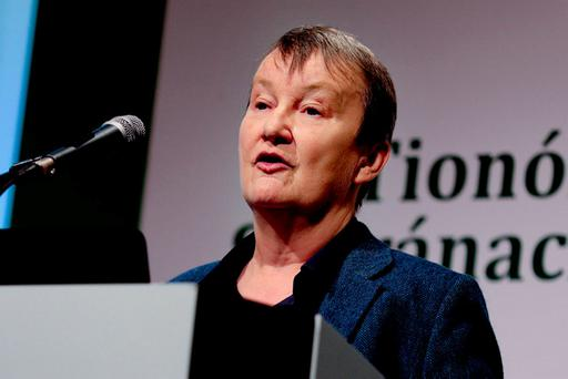 Dr Joan McCarthy speaking at the Citizens' Assembly. Photo: Maxwells