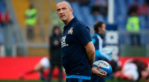 Italy manager Conor O'Shea. Photo: Reuters / Alessandro Bianchi