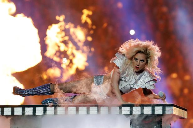 Singer Lady Gaga performs during the halftime show of the NFL Super Bowl 51 (AP Photo/Matt Slocum)