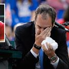 Great Britain's Davis Cup tie against Canada ended in bizarre fashion as Denis Shapovalov was disqualified for blasting a ball into the face of the chair umpire.