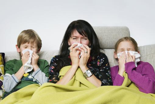 New research shows the average mum will fall ill 324 times over their offspring's childhood