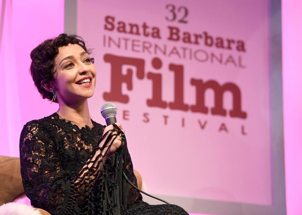 Ruth Negga speaks onstage at the Virtuosos Award presented by UGG during the 32nd Santa Barbara International Film Festival at the Arlington Theatre on February 4, 2017 in Santa Barbara, California. (Photo by Matt Winkelmeyer/Getty Images for SBIFF)