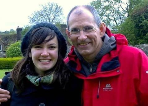 Michelle Hulford (21) who died in a road crash while on holiday in Northern Ireland, pictured with her dad David.