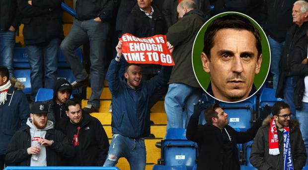 Gary Neville and ArsenalFanTV were at loggerheads over the weekend