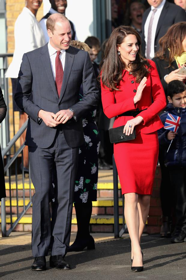 Prince William, Duke of Cambridge and Catherine, Duchess of Cambridge attend the Place2Be Big Assembly With Heads Together for Children's Mental Health Week at Mitchell Brook Primary School on February 6, 2017 in London, England. (Photo by Chris Jackson/Getty Images)