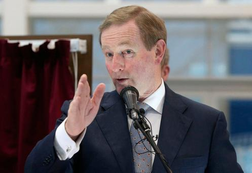 Enda Kenny: 'I don't want to be alarmist about it but this is a political challenge here.' Photo: Damien Eagers