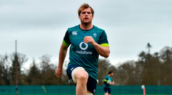 Jamie Heaslip pictured at Carton House yesterday. Photo: Ramsey Cardy/Sportsfile
