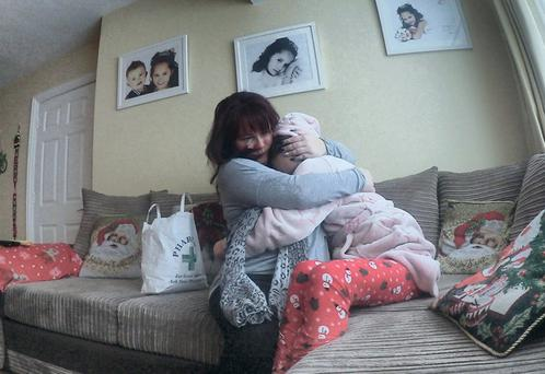 Sharon and her daughter Megan Halvey-Ryan (13). Photo: RTÉ