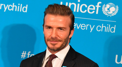 David Beckham. Photo: Angela Weiss/AFP/Getty Images