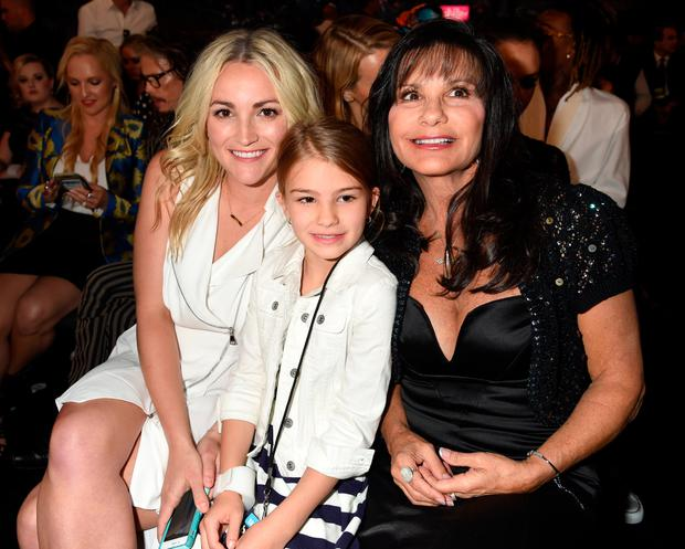 (L-R) Actress Jamie Lynn Spears, Maddie Briann Aldridge, and Lynne Spears in the audience at the 2016 Billboard Music Awards at T-Mobile Arena on May 22, 2016 in Las Vegas, Nevada. (Photo by Jeff Kravitz/BBMA2016/FilmMagic)