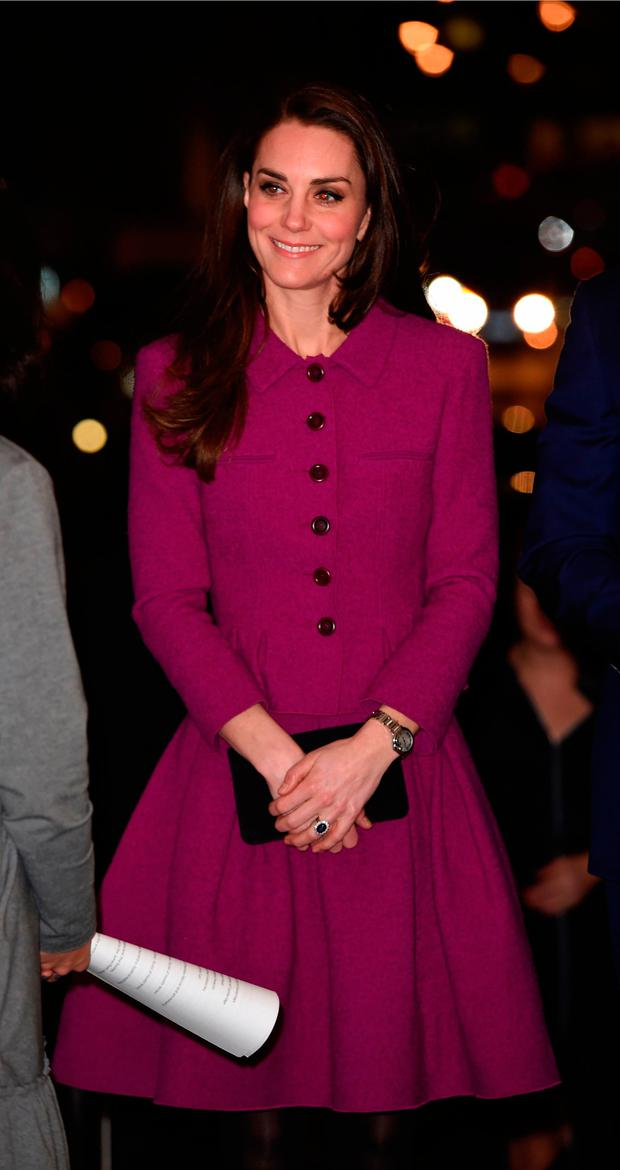 Britain's Catherine, Duchess of Cambridge attends a Guild of Health Writers conference in London on February 6, 2017, this year focusing on mental health, and supported by the Heads Together campaign.