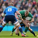 12 March 2016; Keith Earls, Ireland, in action against Italy. RBS Six Nations Rugby Championship, Ireland v Italy. Aviva Stadium, Lansdowne Road, Dublin. Picture credit: Ramsey Cardy / SPORTSFILE