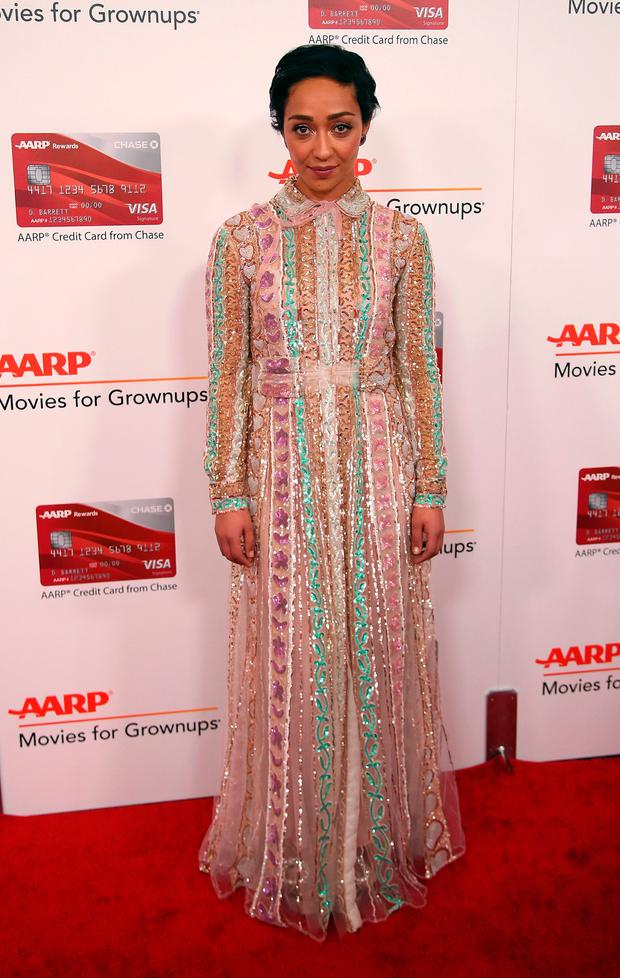 Actress Ruth Negga attends AARP's 16th Annual Movies for Grownups Awards at the Beverly Wilshire Four Seasons Hotel on February 6, 2017 in Beverly Hills, California. (Photo by David Livingston/Getty Images)