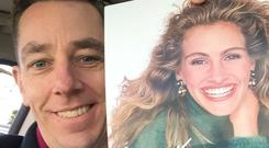 Ryan Tubridy with his signed photo of Julia Roberts.