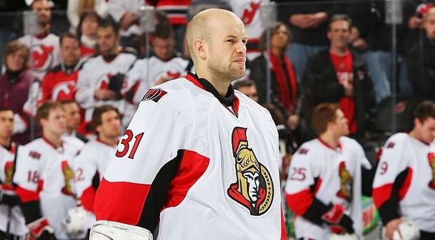 Alex Auld during his time with the Ottawa Senators