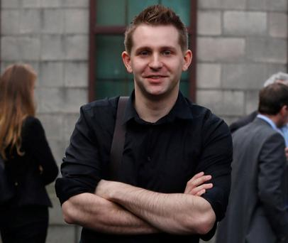 Max Schrems pictured at the Four Courts. Photo: Collins Courts