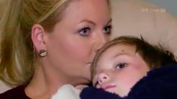 Claire Cahill and her son Darragh who featured in the RTE Investigates programme. Photo: RTÉ
