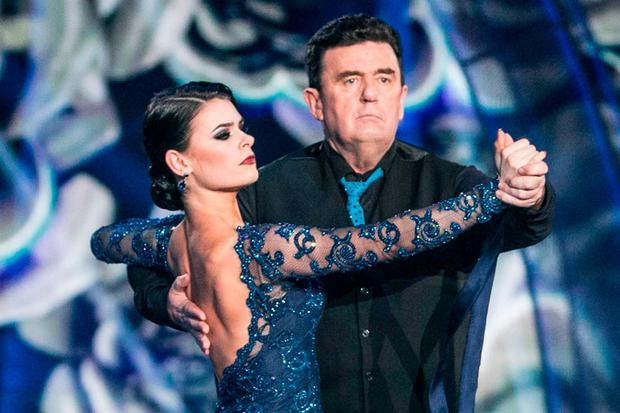 Des Cahill and Karen Byrne during the fifth live show of 'Dancing with the Stars'. Photo: Kyran O'Brien