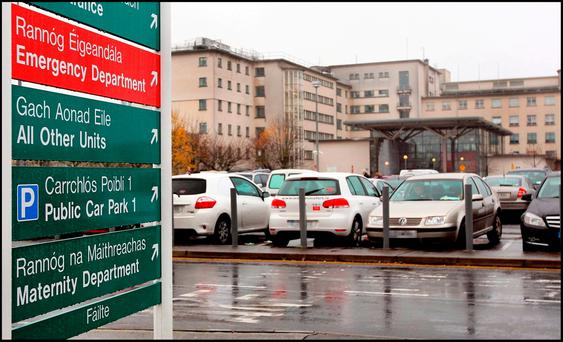 Galway University Hospital is the worst affected for outpatients. Photo: Steve Humphreys