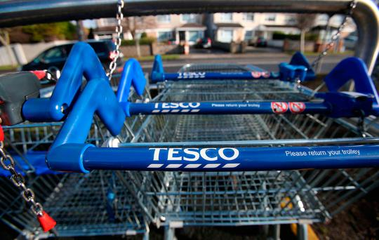 Tesco may be hit by strikes from St Valentine's Day. Photo: Niall Carson/PA Wire