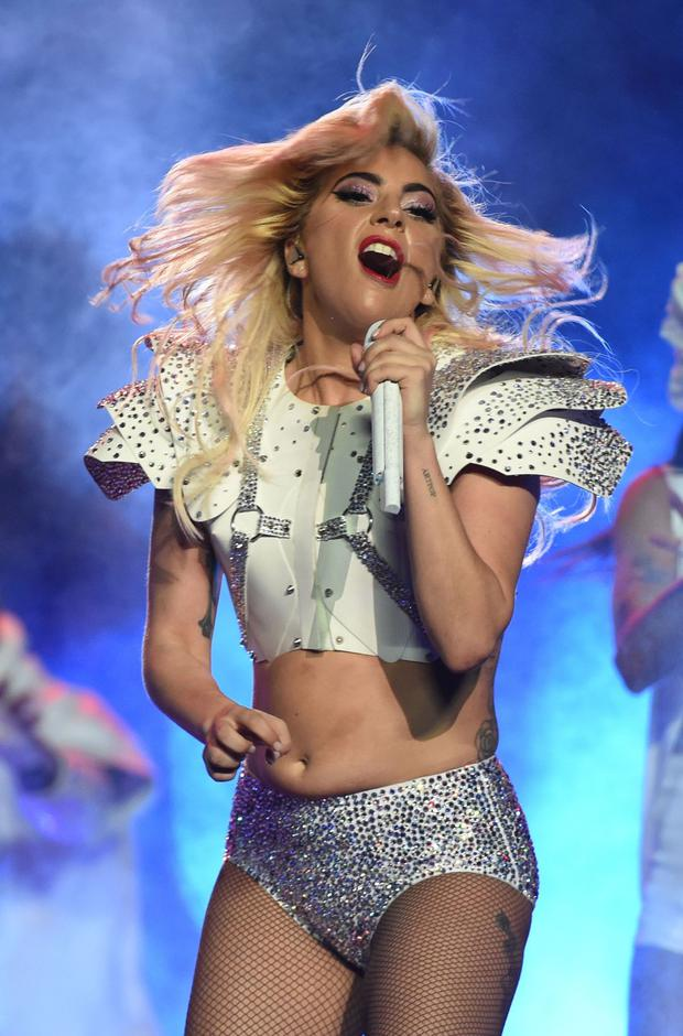Singer Lady Gaga performs during the halftime show of Super Bowl LI at NGR Stadium in Houston, Texas, on February 5, 2017. / AFP / Timothy A. CLARY (Photo credit: TIMOTHY A. CLARY/AFP/Getty Images)