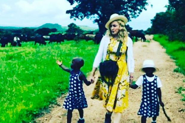 Madonna posted this image of her daughters on her official Instagram