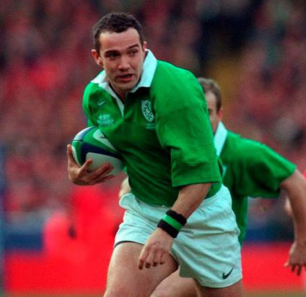 Conor O'Shea in an Ireland shirt in 1999. Photo: Matt Browne/Sportsfile