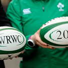 13 May 2015; Branded rugby balls at the announcement that Ireland won the bid to be the host nation for the 2017 Women's Rugby World Cup. Ballsbridge Hotel, Dublin. Picture credit: Piaras Ó Mídheach / SPORTSFILE