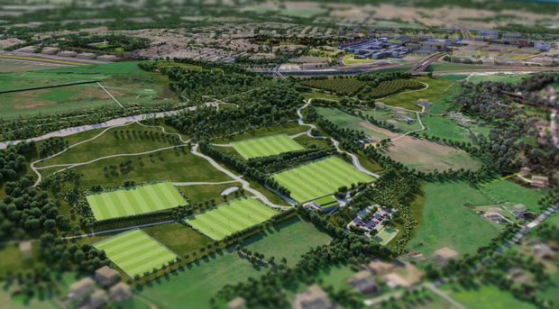 An artist's impression of the Cherrywood town