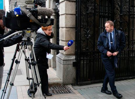 Whistleblower Maurice McCabe outside Leinster House in 2014 Photo: Tom Burke
