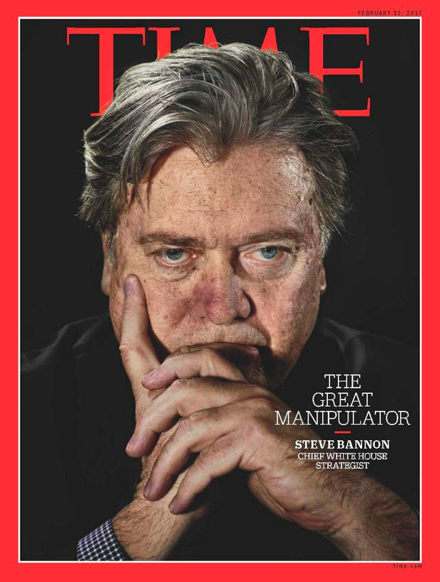 Steve Bannon on the cover of this week's 'Time' magazine