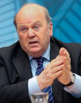 Finance Minister Michael Noonan. 'The Finance Department has too much control over health funding'. Photo: Gareth Chaney Collins