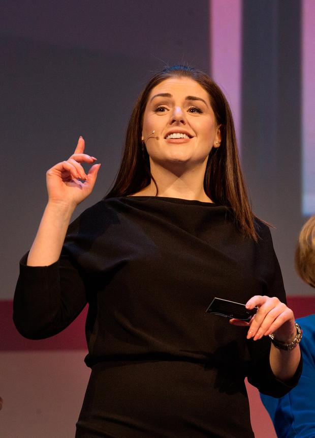 Sile Seoige at the Pendulum Summit in the National Convention Centre Dublin.
