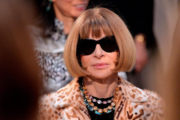 Anna Wintour attends the Saint Laurent show as part of the Paris Fashion Week Womenswear Fall/Winter 2016/2017 on March 7, 2016 in Paris, France. (Photo by Francois Durand/Getty Images)