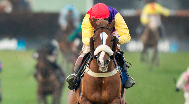 Native River (Richard Johnson) wins the Welsh National Chepstow. Picture: Edward Whitaker