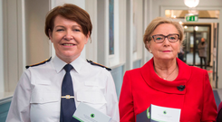Garda Commissioner Nóirín O'Sullivan (left) with Justice Minister Frances Fitzgerald Photo: Colin O'Riordan